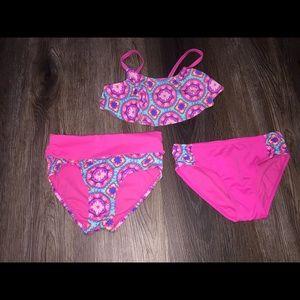 Girls 3 Pcs. Justice Swimsuit Size 6